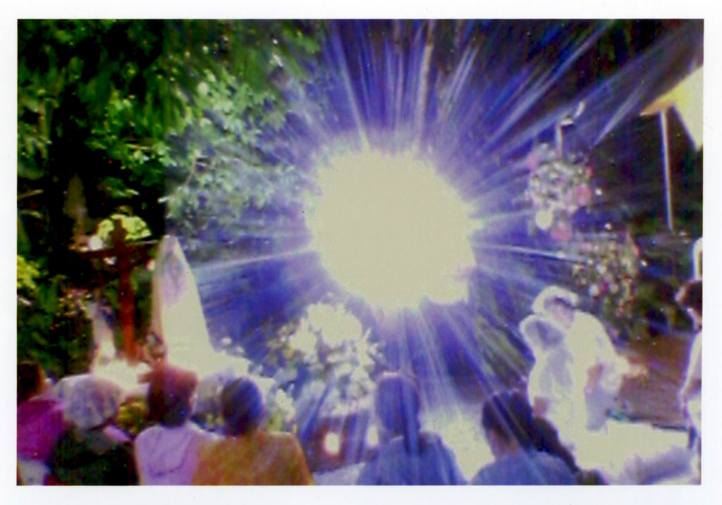 Photo taken by a Pilgrim at the Mt. of Salvation during the apparition of the Blessed Mother